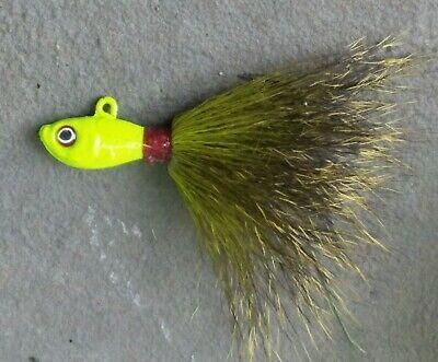 5 Upperman Bean Striped Bass Fluke Ultra Point Bucktail Jig Head Lures Char