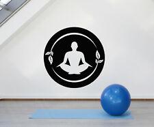 vinyl wall decal lotus pose yoga center meditation mantra