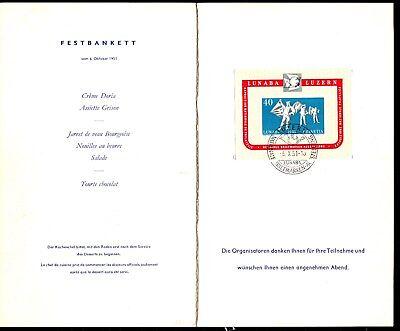 Schweiz Block 14 in Klappkarte zum Philatelisten-Kongreß 1951 nur für Teilnehmer