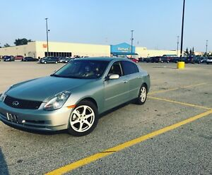 I have a 2004 G35 V6 3.5L RWD  Fully Loaded