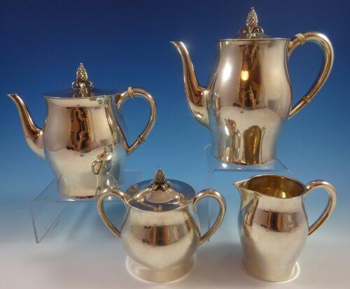 Paul Revere By Tuttle Sterling Silver Tea Set 4pc #390 (#1286)