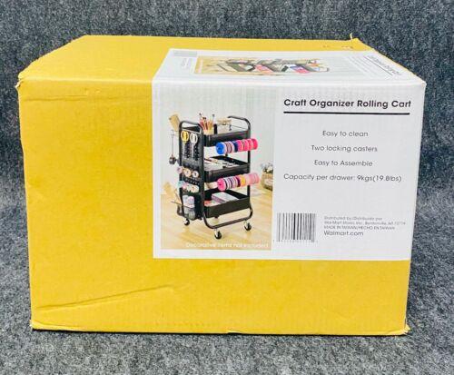 Craft Organizer Rolling Cart-Black