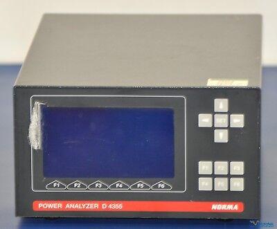 Lem Norma Fluke D4355 3-phase Power Analyzer - Nist Calibrated With Warranty