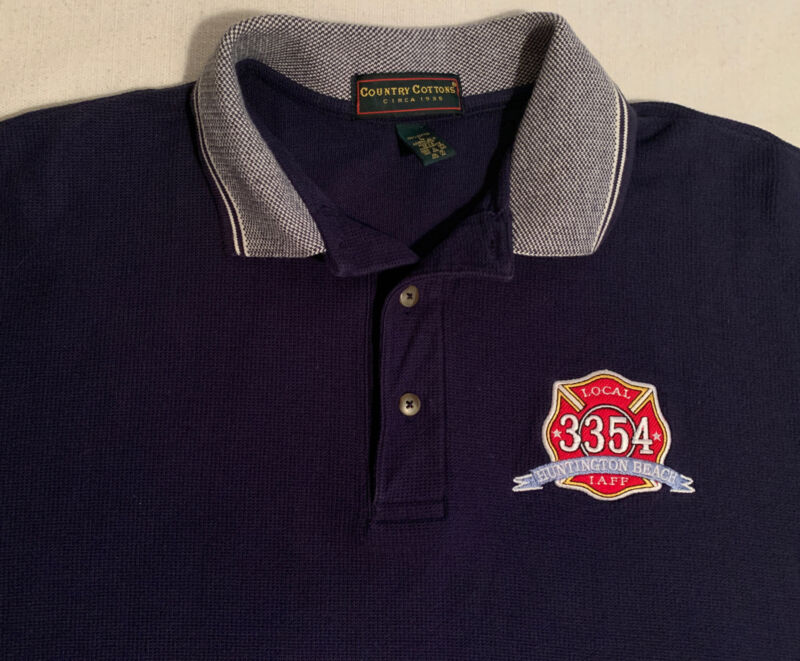 Huntington Beach Fire Department Los Angeles  CA Polo Shirt  Sz L LAFD FDNY