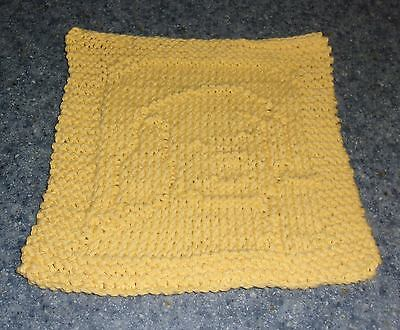 Brand New Hand Knit Cute Puppy Dog Design Cotton Dish Cloth 4 Dog Rescue Charity