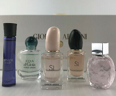 GIORGIO ARMANI COLLECTION SET DIAMONDS,SI EDP+EDT,ACQUA DI GIOIA,ARMANI CODE NIB