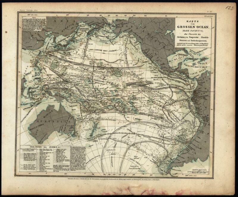 Pacific Ocean scientific ocean flow temperature discoveries 1860 Meyer map
