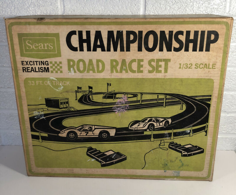 Eldon Sears Championship Road Race Set W Box Some Accessories Not Complete