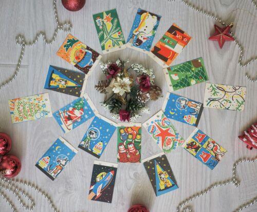 ☄ 1960s USSR New Year SPACE Paper Garland BELKA STRELKA ROCKET Soviet Russian