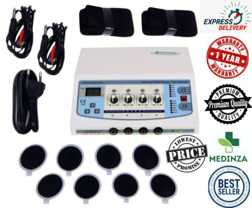 4 Channel Electrotherapy Pain Relief Physical Therapy Eight Pad Electrodes Unit