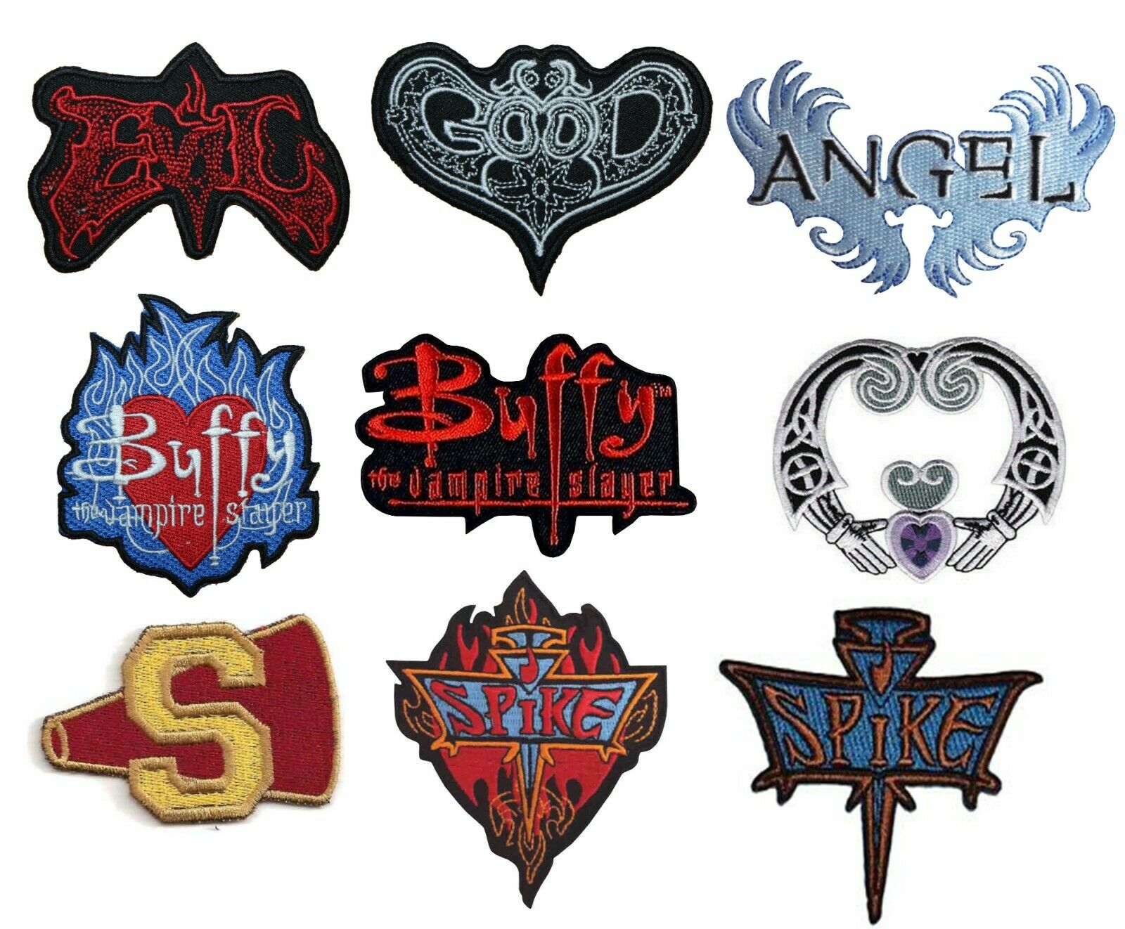 Buffy The Vampire Slayer Spike Red 3.5/'/' Patch Embroidered Sew or Iron on Badge