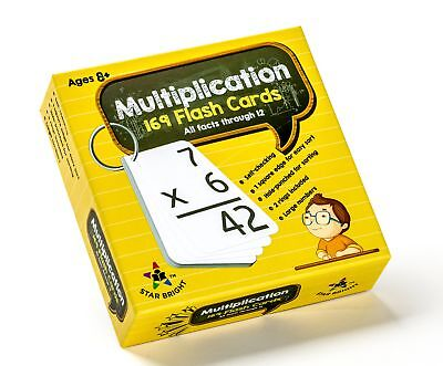 Multiplication Facts Flash Cards - Educational Multiplication Flash Cards: 0-12 (All Facts) 169 Cards - Large Print