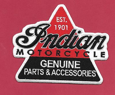 """New Indian Motorcycle 'Genuine Parts' 4 X""""4 3/4   Iron on Patch  Free Shipping, used for sale  Crosby"""