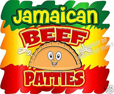 Jamaican Beef Patties Decal 14 Food Truck Restaurant Concession Van Vinyl Menu