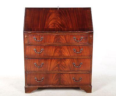 Antique Writing Bureau Mahogany Leather Bureau Antique Repro Vintage