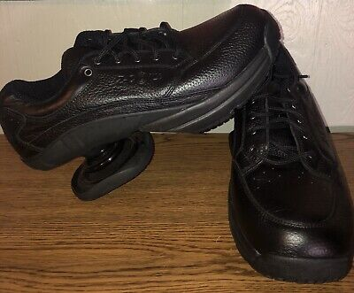 NEW Z Coil Legend Shoes Black Leather Pain Relief Comfort Orthopedic Size W10