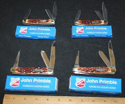 (4) John Primble Bone Handle Pocket Knives in Boxes Group #1 ---- Buy It Now!!!