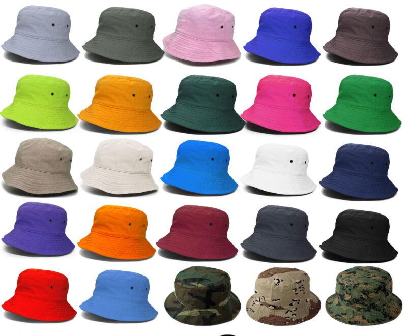92132f950b9 Bucket Hat Cap Fishing Boonie Brim visor Sun Safari Summer Mens Womens  Camping