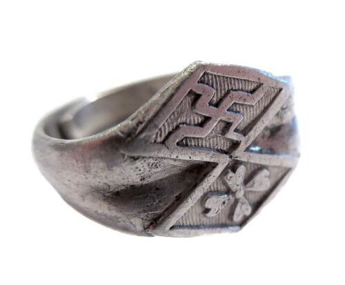ANTIQUE Chinese SILVER Ring
