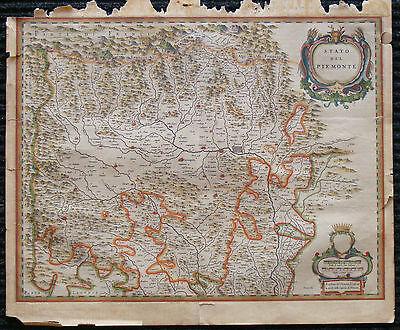 Европа 1641 original antique map Turino