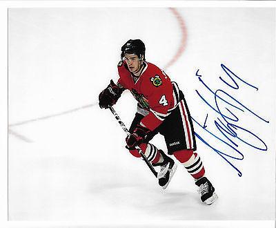 Niklas Hjalmarsson #4 Chicago Blackhawks Autograph Original Photo Not a Reprint
