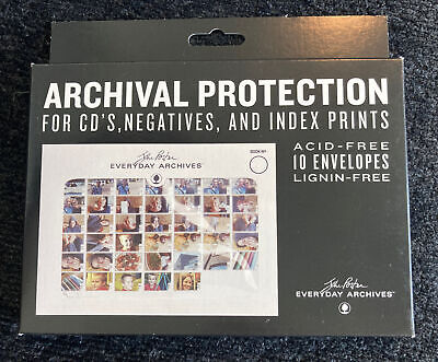"Archival Protection for CD's, Negatives & Index Prints  7""x5"" Envelopes 10-PACK"