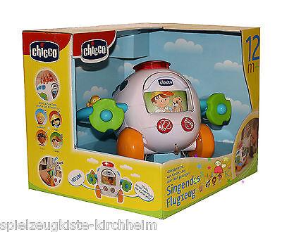 Chicco Toy 1491-01 Singender Flugzeug Babyspielzeug mit Geräusche NEU
