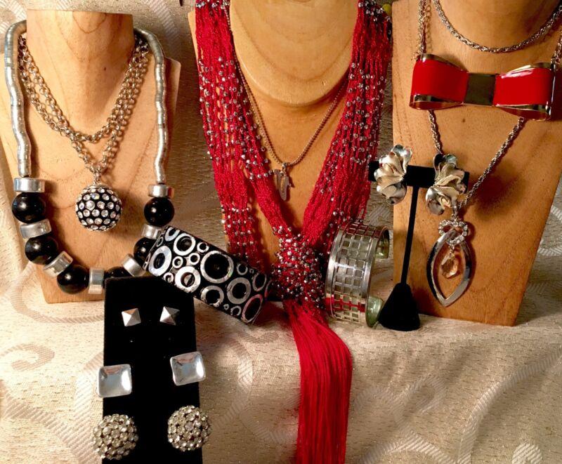 SOHO/BOHEMIAN Mixed Jewelry Lot•Vintage- Now•Chunky*Necklace*Bracelet*Earring 40