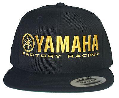 YAMAHA FACTORY RACING hat cap flat bill snapback black yellow for sale  Shipping to India