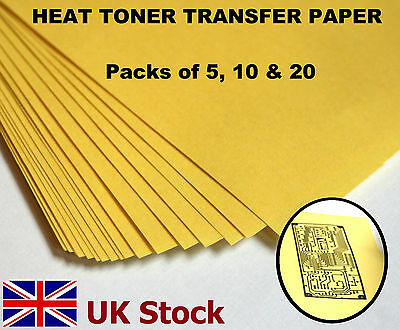 A4 Heat Toner Transfer Paper Laser Printer For Diy Pcb Prototyping - Uk Stock
