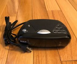RCA black digital clock radio Model RP4842A lots of features works fine clean
