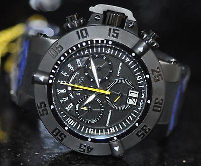 Invicta Mens Rare Subaqua Noma III Swiss Chrono Black Dial Poly Watch 10189