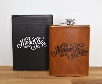 Moonshine Rod Co. 8 oz. Stainless Steel Hip Flask Fly Fishing Trout NIB NEW Fly Fishing Steel Rod