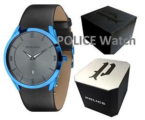 Genuine Police Gun Dial with Date PU Strap Ladies/Men's Watch PL14217JSBL/61