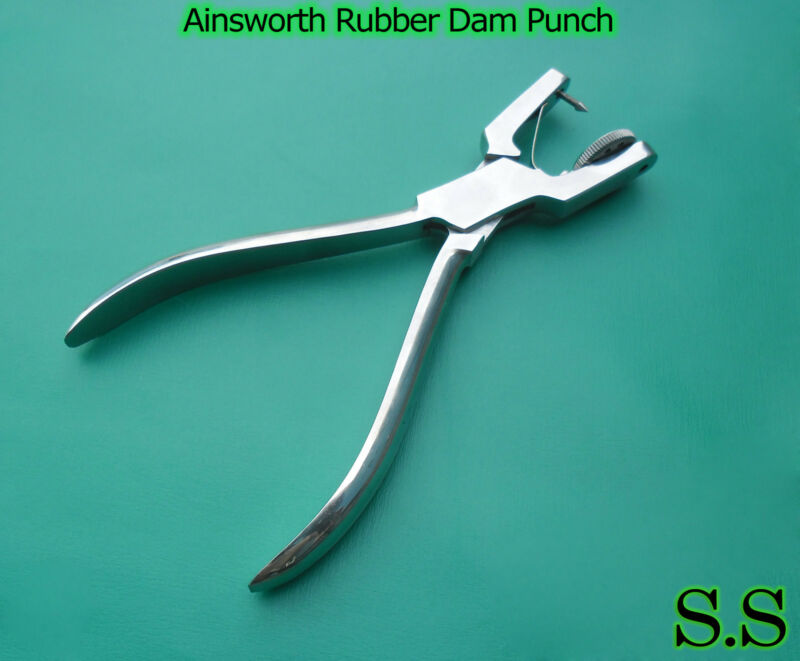 5 Ainsworth Rubber Dam Punch Dental Surgical Instruments
