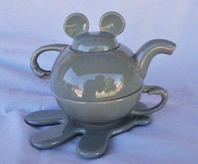 Mickey Mouse Disney Tea Pot Cup Saucer
