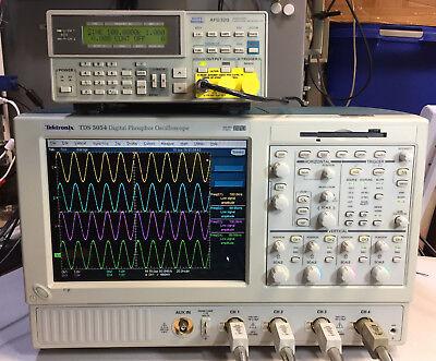 Tektronix Tds5054 Dpo Oscilloscope 4ch 500mhz 5gss 2m Sm J2 Usb Pw3 Jt3 J3e