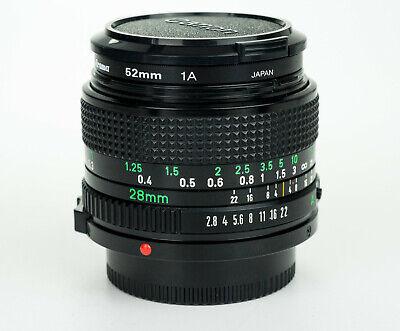 Canon FD New 28mm 1:2.8 obiettivo wide angle lens grandangolare Near Mint