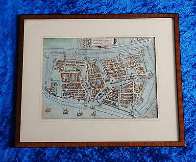 Civitas Embda eo modo situata cum essit L. Guicciardini Ostfriesland  Emden 1595