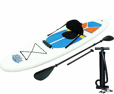 Bestway Hydro-Force White Cap Inflatable SUP Stand Up Paddleboard & Kayak 65069