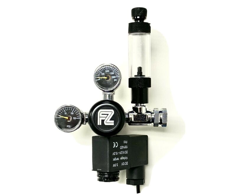 FZONE Aquarium CO2 Regulator with Bubble Counter
