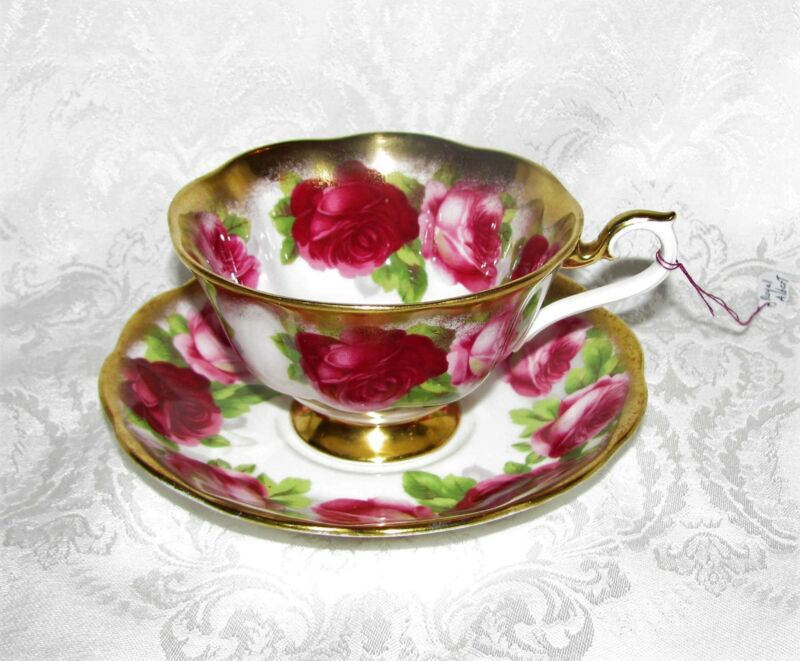 Vintage Royal Albert English Porcelain Cup and Saucer Treasure Chest