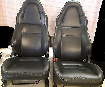TOYOTA MR2 MK3 Roadster Spyder MRs Black Leather Seats + Door Cards