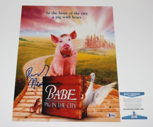 COMPOSER RANDY NEWMAN SIGNED BABE PIG IN THE CITY 11x14 MOVIE PHOTO BECKETT COA