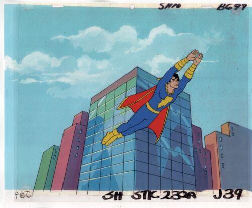 Shazam Captain Marvel Jr Cel Painting Cartoon Hand Painted