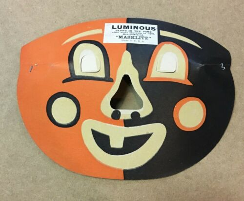 Vintage Halloween Paper Luminous Masklite Mask 50