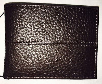 (Cole Haan Men's Slim Billfold Chocolate Genuine Leather CHDM21009L Brown Wallet)