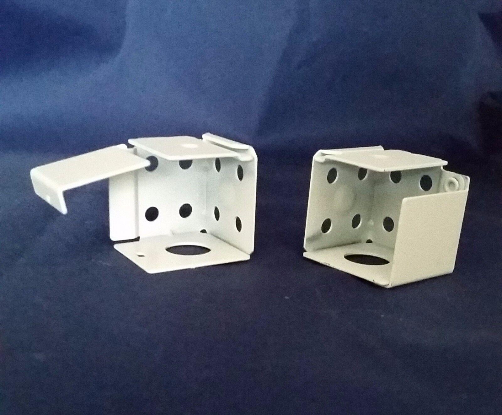 White Metal Mini Blind Brackets