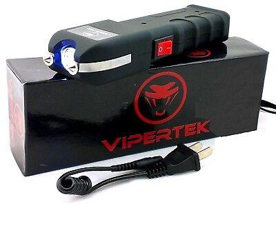VIPERTEK VTS-989 - 600 Billion Volt Rechargeable LED Stun Gun w/ Holster Case