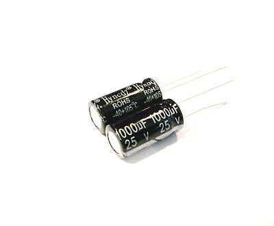 2pcs 1000uf 25v Electrolytic Capacitors 105c Ksc 10x17 Usa Seller